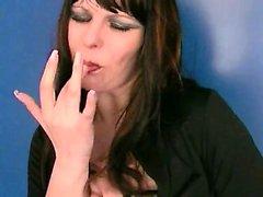 Kinky slut gives a POV blowjob in public toilet