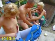 Double public handjob from my girls