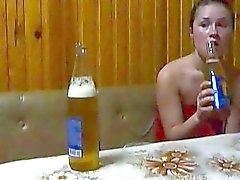 Sexy gf Shelbi wild drunk sex