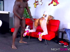 GERMAN - Blond MILF vs Black Cock