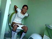 serbian Natasha at water closet