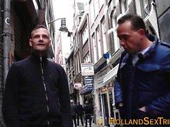Dutch prostitute tugs cum