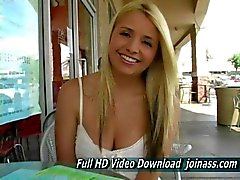 Sandy Blonde Young Upskirt in Public