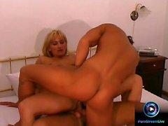 HAWT GIRL n162 blonde anal in trio double penetration