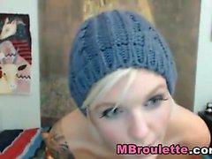 Glamorous blonde Kathia Nobili enjoys wild solo masturbation