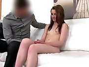 Fake agent inserts big dick in slim babe in casting