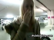 Pretty Blonde Fucked And Facial In Public Parking Lot
