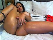 Amateur Anal Fuck And Big Black Dildo In Pussy
