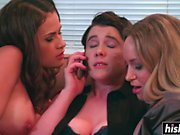 Horny lesbians have an amazing threesome