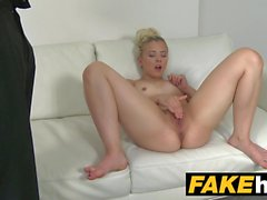Fake Agent Young perky tits model fucked on the couch