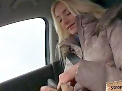 Hitch hiking teen Victoria Puppy pounded in the backseat