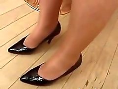 Compliation of women in pantyhose and heels
