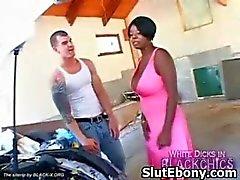 Ebony Kinky Muff Squeezed And Seduced