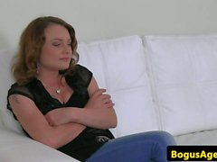 Euro casting milf amateur doggystyled on couch