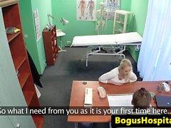 Czech amateur patient railed by the doctor