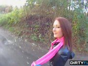 This redhead student claimed she was late for classes when