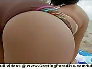 Sasha independent teen babe with natural tits and big ass is public flashing pussy on the beach