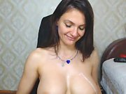 Adorable Babe With Nice Boobs Toying Her Ass On Webcam