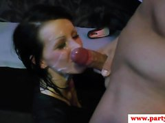 Interracial sexparty babe fucked with bigcock