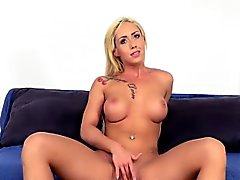 Busty tattooed slut fucked at casting agency