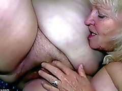 Big fat woman masturbates and licking granny