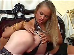 Sissy strapon fucked by two milfs