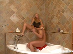 Sexy blonde in the bathroom got drilled hard.mp4