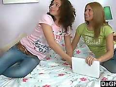 Two Teen BFFs Getting Fucked Hard