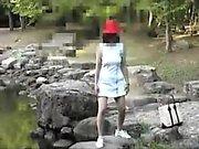 Cute brunette dressing up on hidden cam