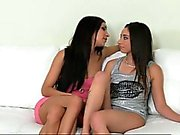 First time pussy licking for new girl