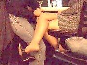 Hot Wife Dangling Heels
