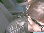 PublicAgent Russian creampied outdoors