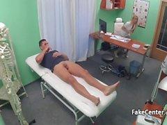 Hot blonde nurse riding lucky patient