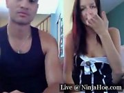Couple play on on cam