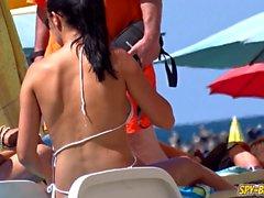 Hot Amateur Topless Voyeur Beach - Sexy Big Tits Babe