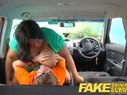 Fake Driving School Big busty black beauty banged hard on driving lesson