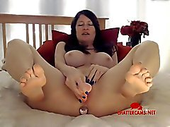Live MILF Three Holes Toy Play