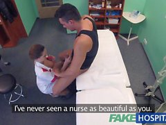 FakeHospital Kinky nurse helps patient ejaculate