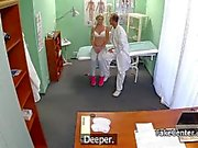 Doctor fucks hot pigtailed czech blonde teen