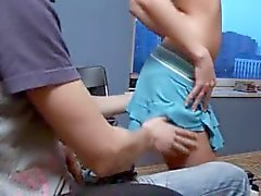 Russian teenagers banging in the office