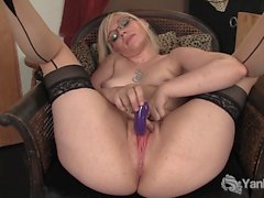 Stockinged Ruby Toying Her Snatch