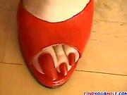 German Annabelle Mature FootJob