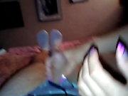 Viki hot manicured nails handjob