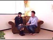 Japanese Schoolgirl Rubs Herself Through Her Panties