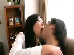 Sexy Asian wife with lovely tits has a horny guy fulfilling