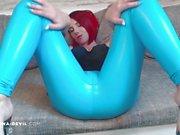 Redhead Nina Devil masturbating