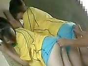 Lucky guy has two ravishing girls working their mouths on h