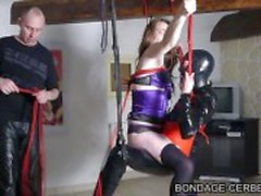 french bondage soumise sandy libertine bdsm et soumis d fetich latex