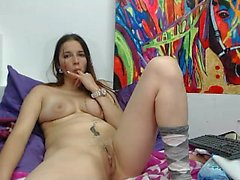 Close up video of pussy being toyed with using her vibrator