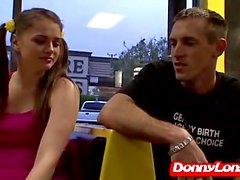Donny Long destroys pigtail teen and makes he